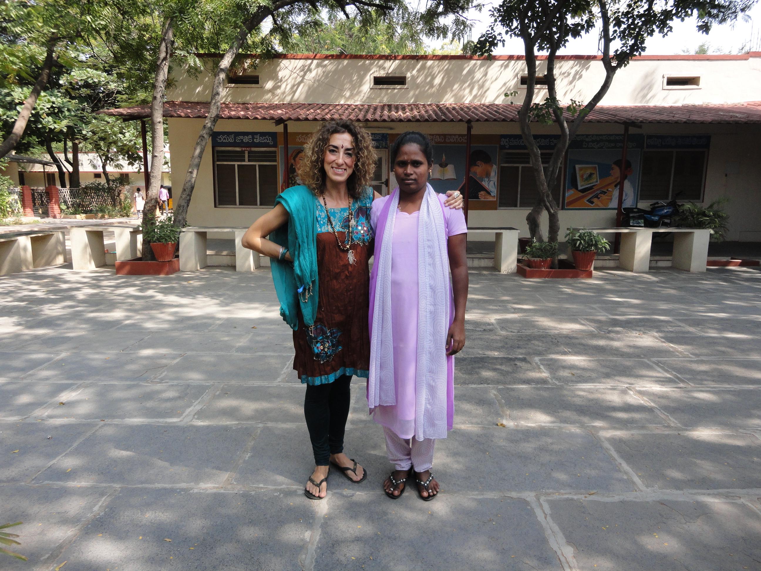 Trabajadora de la Fundación Vicente Ferrer en India