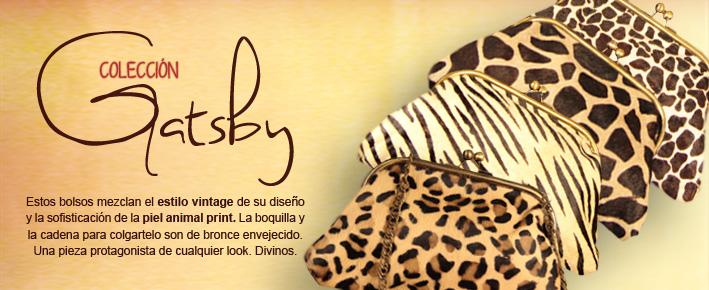 Bolsos Gatsby de piel animal print de Dando un Paseo