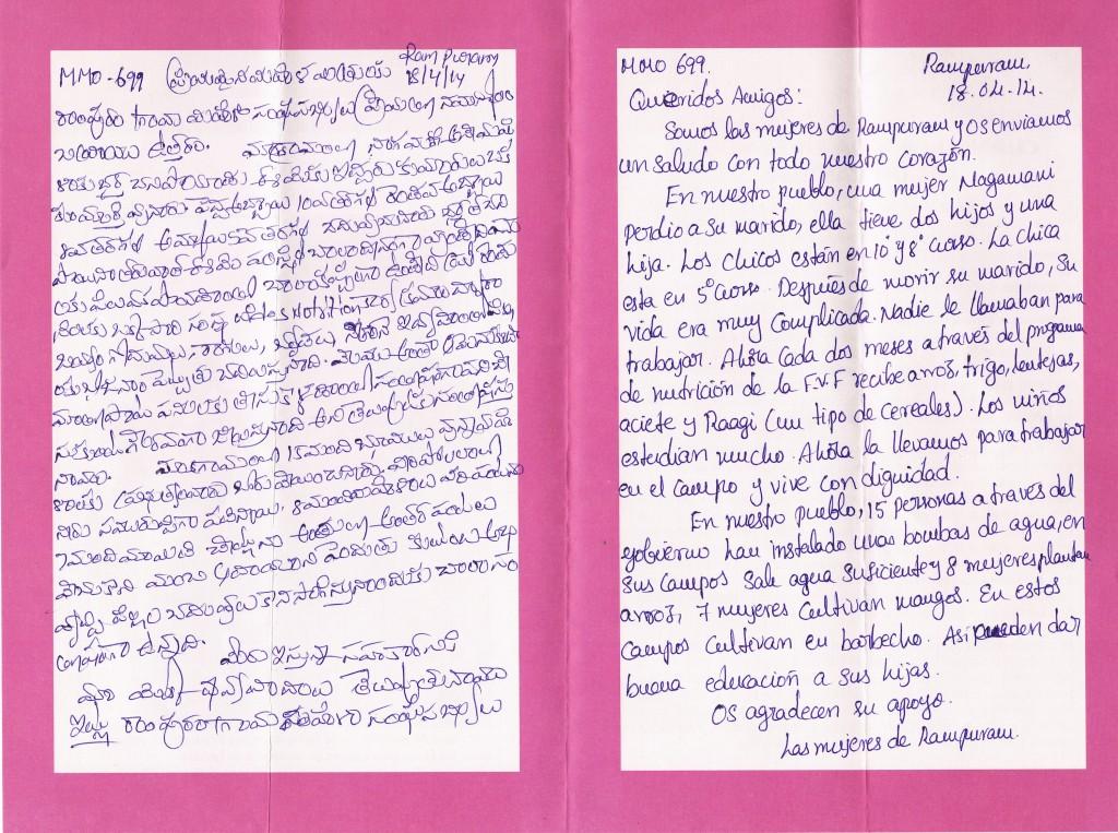 Cartas Fundación Vicente Ferrer