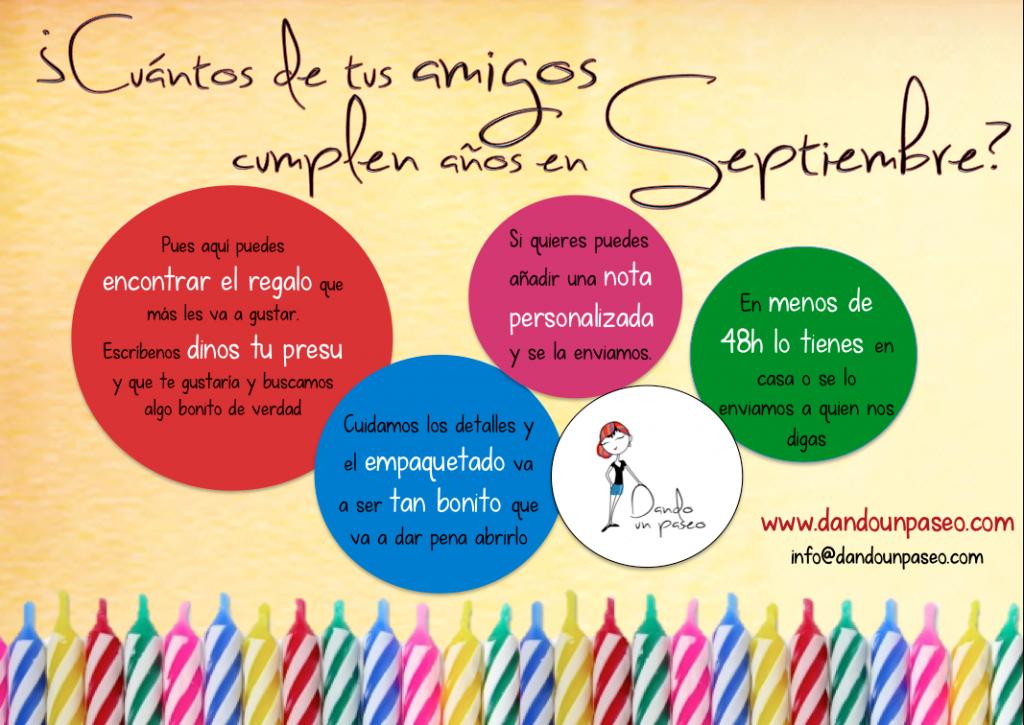 cumpleaños en septiembre regalos Dando un Paseo