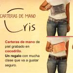Bolsos de piel y carteras de mano coleccion Cris