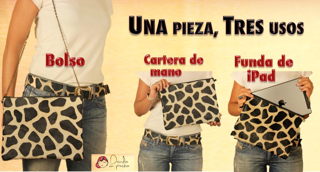 dcd9c8efc Bolso Animal Print y Funda de ipad y cartera de mano
