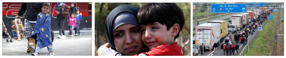 ayuda a refugiados Dando un Paseo