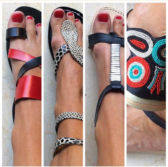 Sandalias de piel de Dando un Paseo