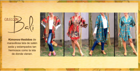 Kimonos de seda de Dando un Paseo
